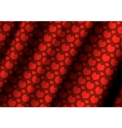 Heart cloth background of Valentins Day vector image