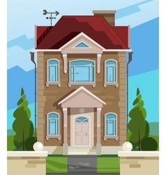 House english facade vector