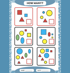 How many counting game for preschool children vector