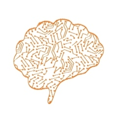 Human brain mind vector image