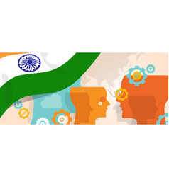 India concept of thinking growing innovation vector