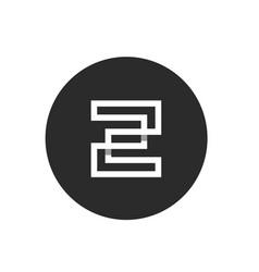 initial alphabet z minimalist monogram art logo vector image