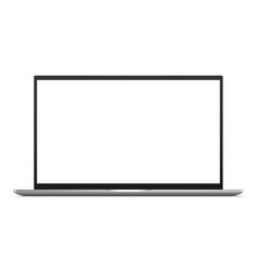 laptop computer mockup with blank screen vector image