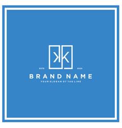 Letter kk square logo design concept vector