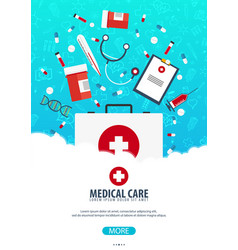 medical poster health care medicine vector image