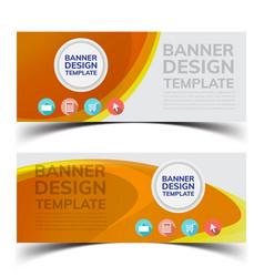 multipurpose layout banner design4 vector image