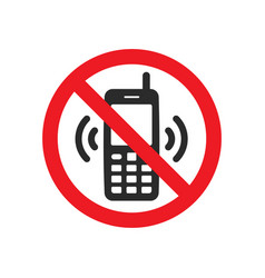 not allowed phone sign vector image