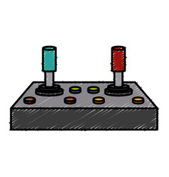 Old console gamepad vector