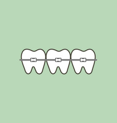 Orthodontic teeth or dental braces vector