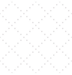 Pattern with tiny star shapes in square grid vector