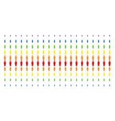 Person shape halftone spectral array vector