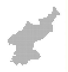 pixel map of north korea dotted map of north vector image