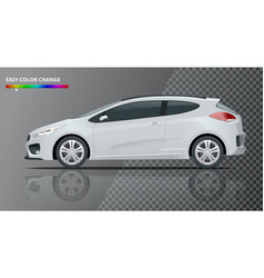 Realistic sportcar or hatchback vehicle suv car vector
