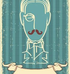 retro mustache man vector image