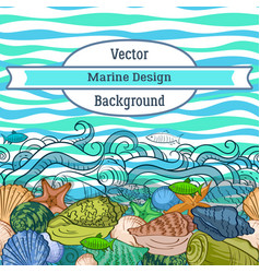 sea exotic pattern vector image