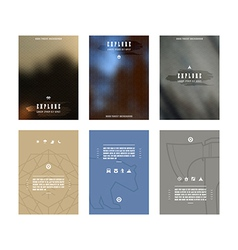 Set of poster templates vector image