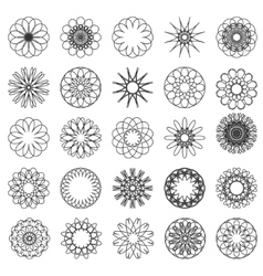 Set of simple mandalas vector