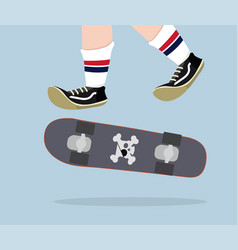 skateboarder with skateboard vector image