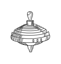sketch of a whirligig vector image