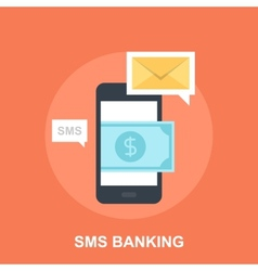 SMS Banking vector image