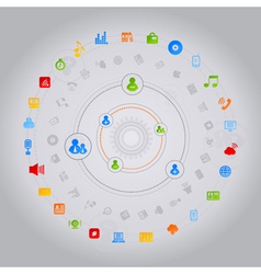 Social Media Computer Icons vector image