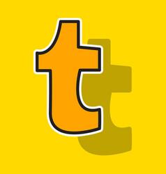 Sticker unusual look tumblr social media icons vector