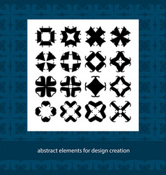 Stylish creative geometric signs abstract vector