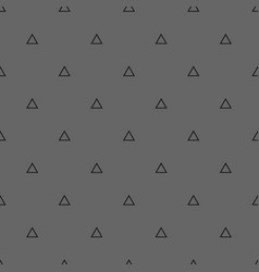 tile pattern with triangles on a grey background vector image
