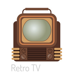 tv screen vintage monitor template electronic vector image vector image