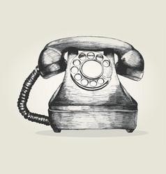 vintage telephone vector image