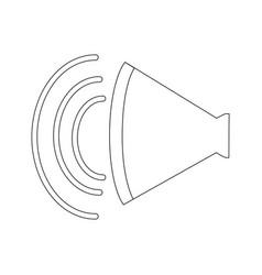 volume of sound speaker louder amplifier vector image