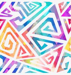 Watercolor geometric pattern vector