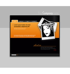 Website template with photo art vector image