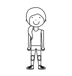 woman athlete avatar character vector image