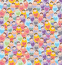 Seamless pattern pink purple orange blue Russian vector image vector image