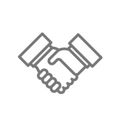 simple business handshake and contract agreement vector image