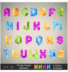 trendy colorful alphabet vector image vector image