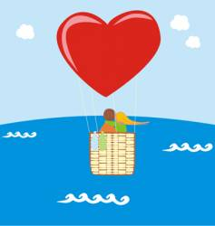 valentine on baloon vector image