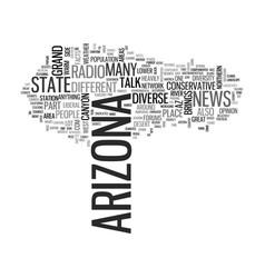 arizona text word cloud concept vector image vector image