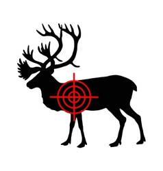 Caribou crosshair vector image