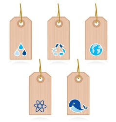 collection of blank recycle and water label vector image vector image