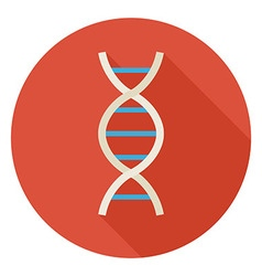 Flat Science and Medicine DNA Circle Icon with vector image