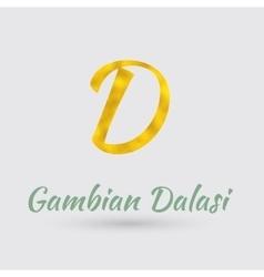 Golden Dalasi Symbol vector image vector image