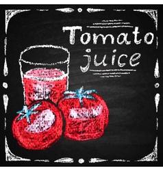 Hand drawn tomato tomato juice vector image