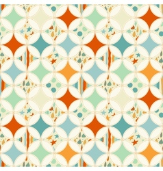 Overlapping circles seamless pattern vector image vector image