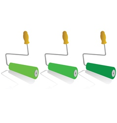 roller for painting in green color vector image vector image