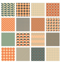 simple geometric patterns vector image vector image