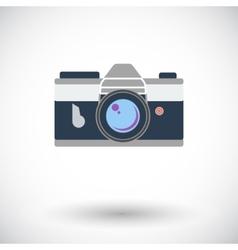 Icon vintage camera vector