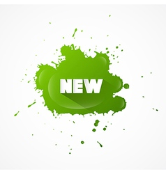 New Title on Green Splash vector image