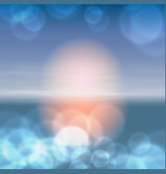 sea sunset with the sun light on lens vector image